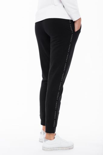 Fleece athletic trousers in with a decorative lateral band