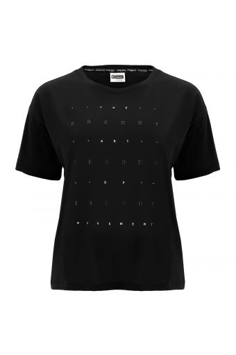 Comfort fit t-shirt with a glitter print