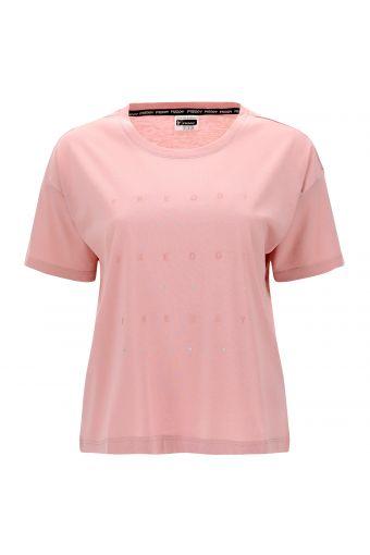 Camiseta cómoda con estampado de glitter