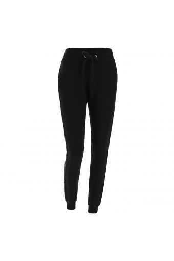 Viscose fleece joggers with sequin inserts