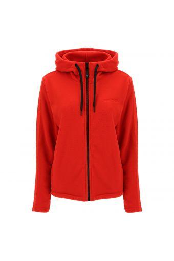 Zip-front fleece hoodie