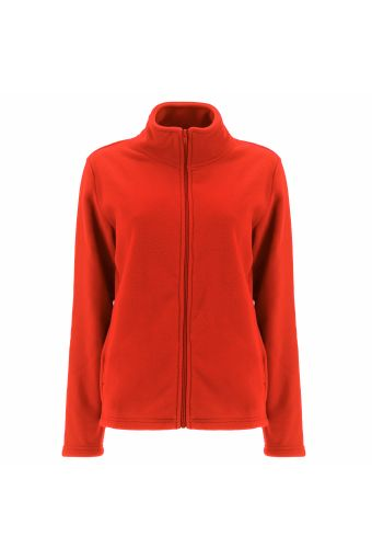 High neck plush sweatshirt with a front zip