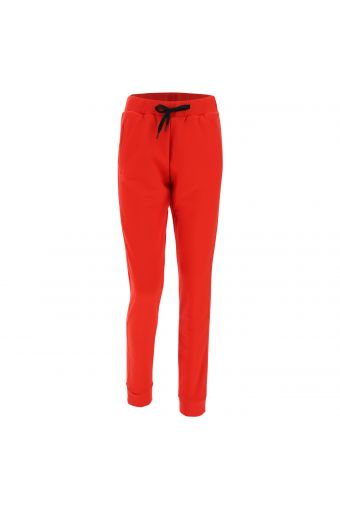 Stretch joggers with cuffs at the ankles