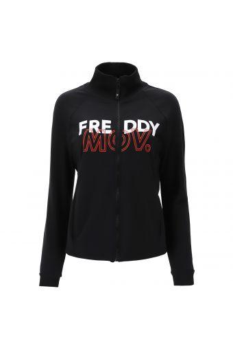 Sweatshirt in Komfort-Passform mit Reißverschluss und hohem Kragen FREDDY MOV.