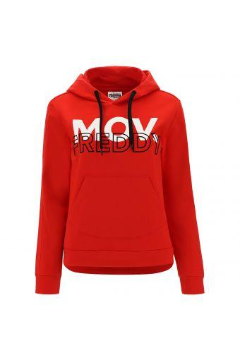 Sweatshirt mit Kapuze und großer Hüfttasche FREDDY MOV.