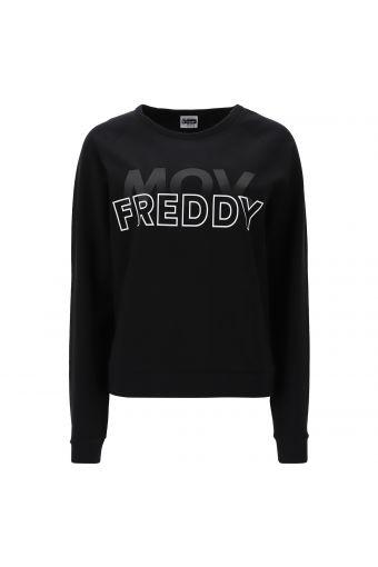 Stretch-Sweatshirt in Komfort-Passform mit Rundhalsausschnitt FREDDY MOV.