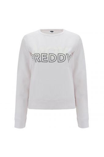 FREDDY MOV. comfort-fit crew neck stretch sweatshirt