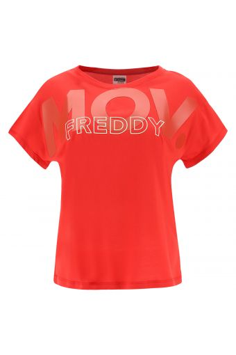 Comfort-fit FREDDY.MOV t-shirt with cap sleeves