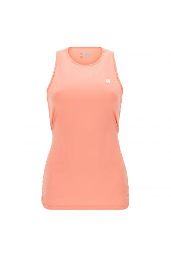 Women's yoga tank top with a criss-cross back - 100% Made in Italy