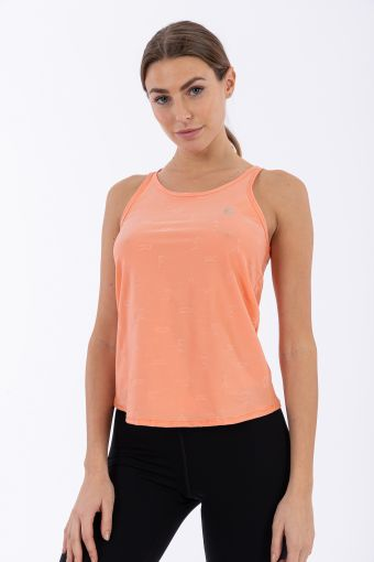 Women's yoga tank top with a gathered back - 100% Made in Italy