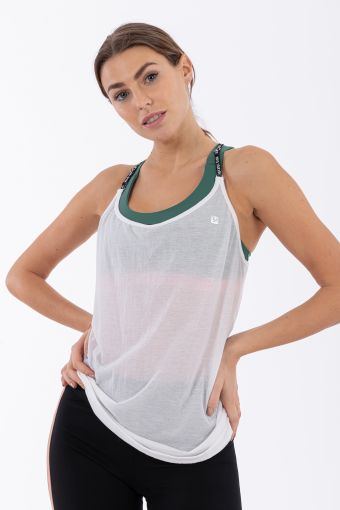 Women's crepe yoga tank top - 100% Made in Italy