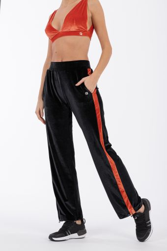 Women's relaxed-fit chenille yoga trousers - 100% Made in Italy