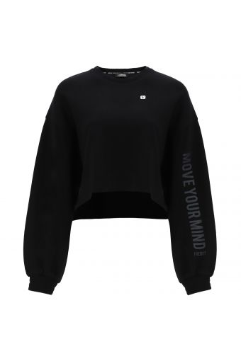 Women's cropped yoga sweatshirt- 100% Made in Italy