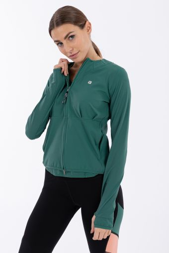 Women's Bio-based D.I.W.O.® performance yoga sweatshirt - 100% Made in Italy