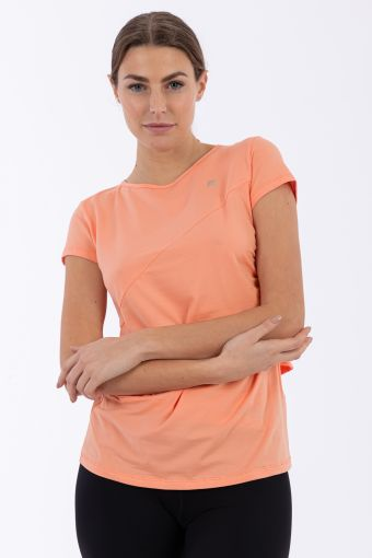 Women's criss cross yoga t-shirt - 100% Made in Italy