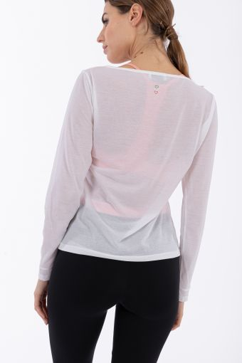 Women's crepe yoga shirt - 100% Made in Italy