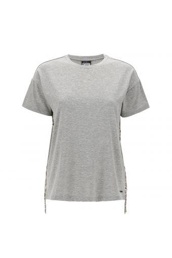 T-shirt mélange con bande glitter logate FREDDY