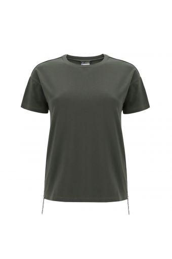 T-shirt comfort fit con bande glitter logate FREDDY