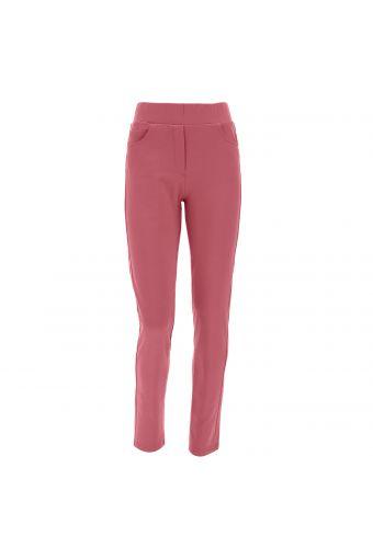 Fleece trousers cut to look like five-pocket jeans