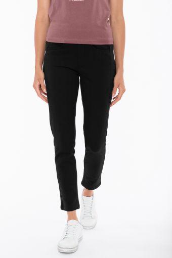 Pantaloni in felpa elasticizzata con taglio stile jeans