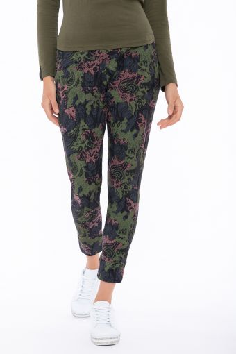 Paisley-camouflage trousers