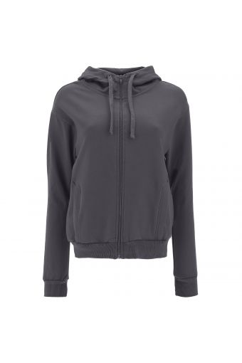 Comfort-fit hoodie with a print on the back
