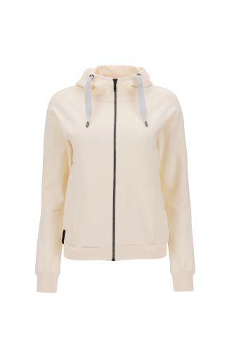 Sweatshirt mit bequemer Passform SEEK YOUR SELF mit hohem Kragen und Kapuze