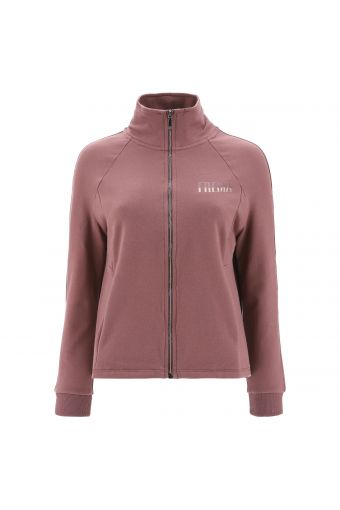 High-neck comfort-fit sweatshirt with a glitter detail on the hip