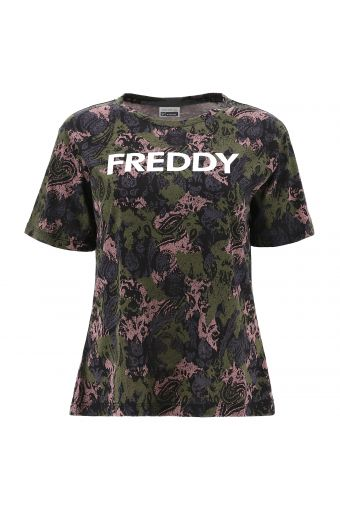 Paisley-camouflage t-shirt with a FREDDY print