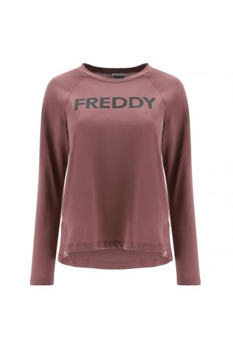 T-shirt à manches longues raglan avec logo FREDDY