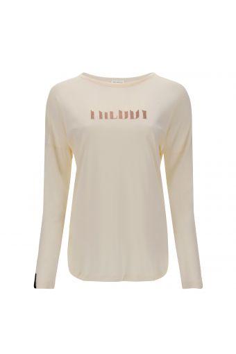 Long-sleeve t-shirt with a glitter FREDDY logo