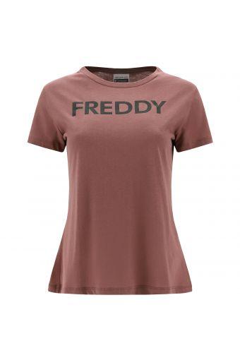 T-Shirt aus Viskose-Jersey mit FREDDY-Aufdruck