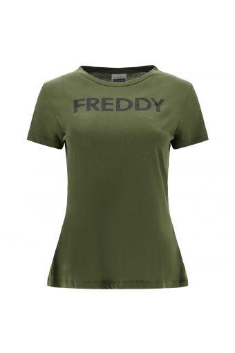 Camiseta en punto de viscosa con estampado FREDDY