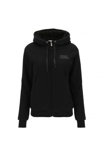Sweatshirt-Jacke mit Fleecefutter