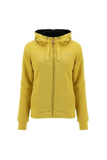 Fleece jacket lined in plush fabric