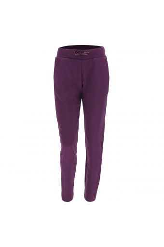 Athletic trousers with polka dot lateral bands
