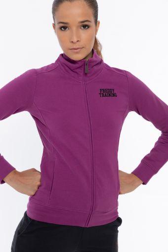 High-neck zip-fastened stretch FREDDY TRAINING sweatshirt