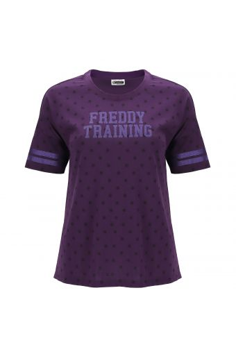 T-shirt comfort fit a pois FREDDY TRAINING