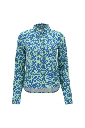 70s-style floral print shirt