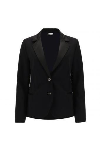 Dinner jacket with satin details