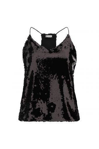 Sequin top with thin straps