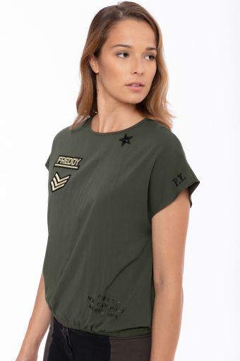 Camiseta estilo militar con manga corta japonesa
