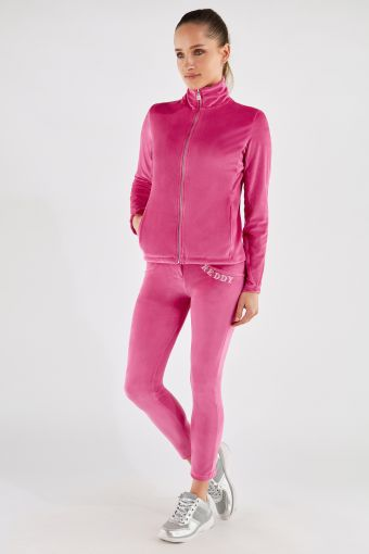 Chenille WR.UP®-IN tracksuit with sculpting trousers and an embroidered top