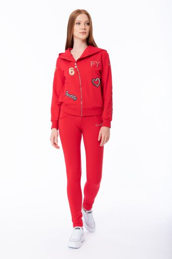 WR.UP®-IN tracksuit with applied trimming and embroidery