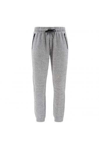 Melange grey joggers with zip pockets and roomy cuffs