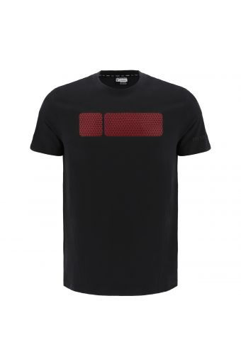 T-shirt with a large micro texture No Logo print