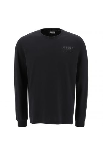 Long sleeve t-shirt with a small shiny print