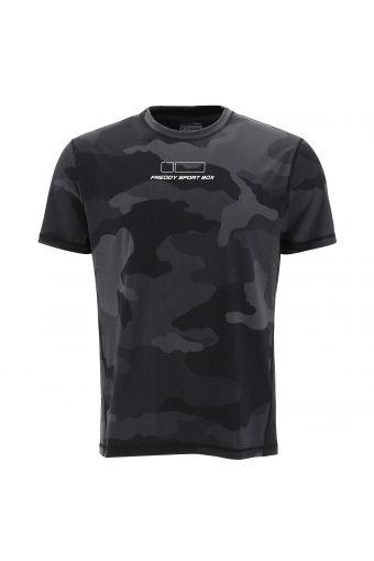 Breathable camouflage print t-shirt in performance fabric