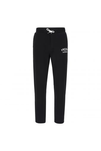 Fleece athletic trousers with a drawstring