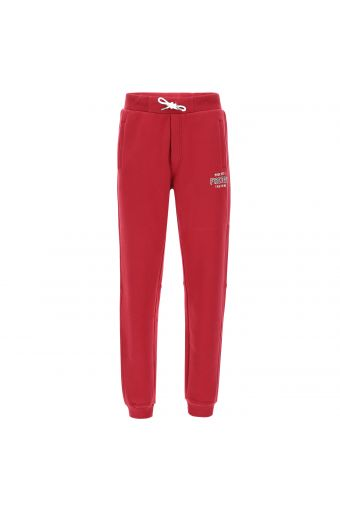 Fleece joggers with a print